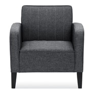 Ivy Bronx Janiyah Classic Upholstered Arm Chair; Dark Gray