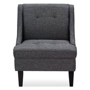 Ivy Bronx Janiyah Classic Fabric Slipper Chair; Dark Gray