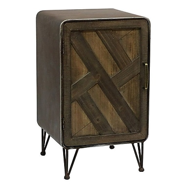Union Rustic Delicia Wood and Metal 1 Door Accent Cabinet