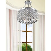 JoJoSpring Nerissa 4-Light Semi Flush Mount; Chrome