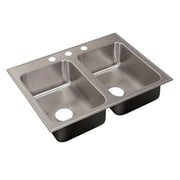 Just Manufacturing 21'' L x 33'' W Drop-In Kitchen Sink w/ Faucet