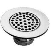 Just Manufacturing 304 Stainless Steel 4'' Crumb Cup Strainer Kitchen Sink Drain w/ Plated Tailpiece