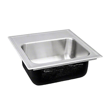 Just Manufacturing 15'' L x 15'' W Drop-In Kitchen Sink w/ Faucet; 1 Hole