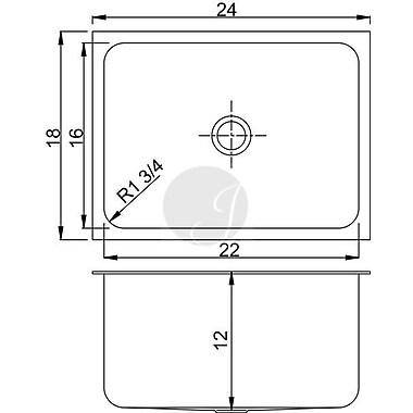 Just Manufacturing 18'' L x 24'' W Undermount Kitchen Sink