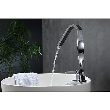 Kube Bath Aqua Riccio Single Lever Bathroom Faucet