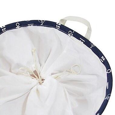 Longshore Tides Anchor Drawstring Top Laundry Basket (Set of 2)
