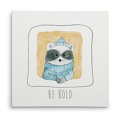 Harriet Bee 'Be Bold' Acrylic Painting Print on Wrapped Canvas; 24'' H x 24'' W