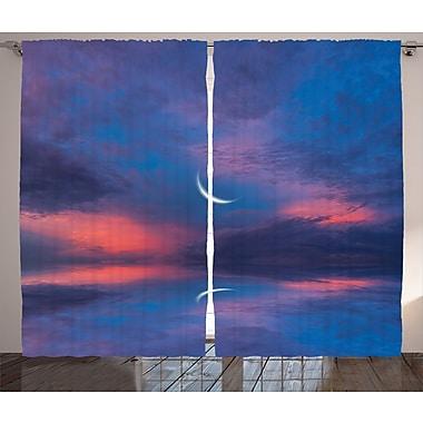 Latitude Run Nash Surreal Sky Decor Graphic Print Room Darkening Rod Pocket Curtain Panels