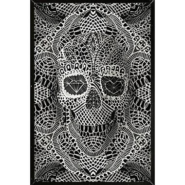 Latitude Run 'Lace Skull' Framed Graphic Art Print Poster