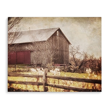Union Rustic 'Preparing for Winter' Graphic Art Print on Wrapped Canvas; 24'' H x 36'' W