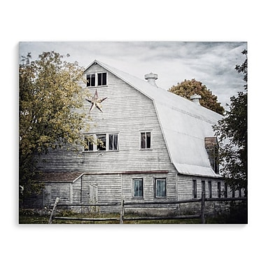 Gracie Oaks 'Star Barn' Photographic Print on Wrapped Canvas; 24'' H x 36'' W