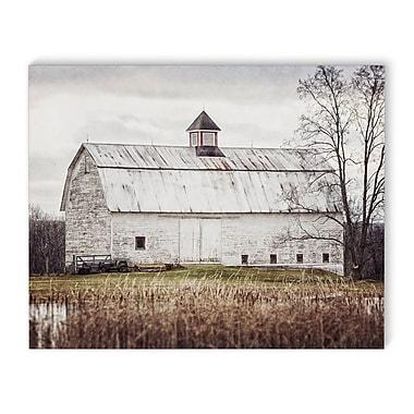 August Grove 'Pond Barn' Photographic Print on Canvas; 24'' H x 36'' W