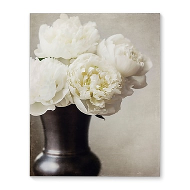 Ophelia & Co. 'Peonies' Photographic Print on Wrapped Canvas; 10'' H x 8'' W