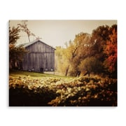 Loon Peak 'Farmhouse Barn Autumn Vineyard' Photographic Print on Wrapped Canvas; 24'' H x 36'' W
