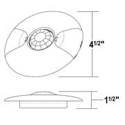 NICOR Lighting 360  Ceiling Occupancy Motion Wall Mounted Sensor