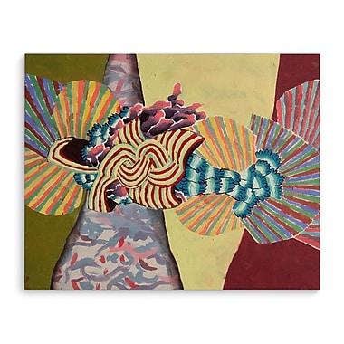 Ebern Designs 'Fan' Graphic Art Print on Wrapped Canvas; 24'' H x 36'' W