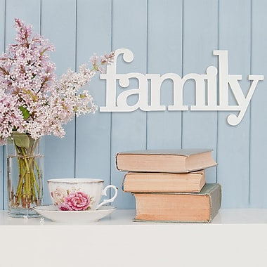 Highland Dunes Family Word Wood Wall D cor