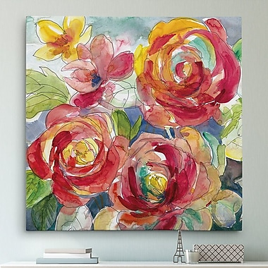 Red Barrel Studio 'Garden Party I' Oil Painting Print on Wrapped Canvas; 40'' H x 40'' W