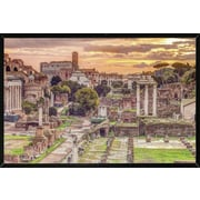 Red Barrel Studio 'Rome' Horizontal Framed Graphic Art Print Poster; Black Framed