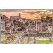 Red Barrel Studio 'Rome' Framed Graphic Art Print Poster