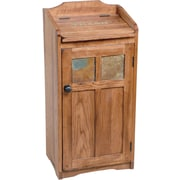 Sunny Designs Sedona Manual Lift Trash Box; Rustic Oak