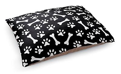 Kavka Bone Prints Pet Bed Pillow; Black/White