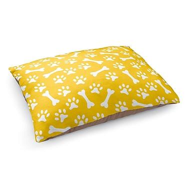 Kavka Bone Prints Pet Bed Pillow; Yellow/White