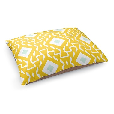 Kavka Clementine Pet Bed Pillow; Yellow/Blue/White