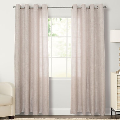 Natco Home Layton Solid Grommet Single Curtain Panel; 56'' W x 84'' L