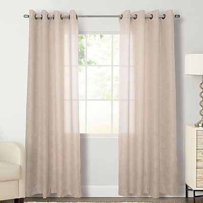 Natco Home Flynn Solid Grommet Single Curtain Panel; 56'' W x 84'' L