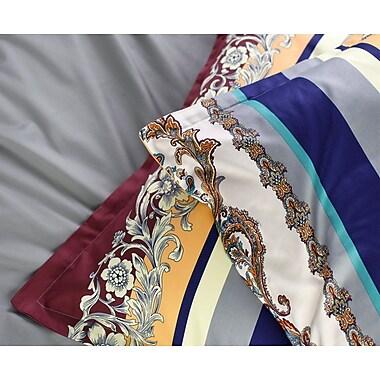 Bloomsbury Market Everly 100pct Cotton 3 Piece Reversible Duvet Set; Queen