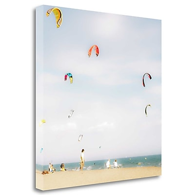 Tangletown Fine Art 'Summer Fun #3' Graphic Art Print on Wrapped Canvas; 24'' H x 24'' W