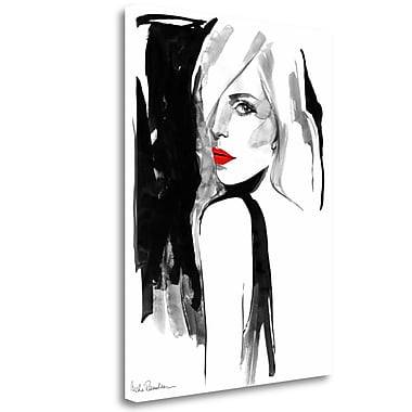 Tangletown Fine Art 'Over the Shoulder' Print on Wrapped Canvas; 33'' H x 25'' W