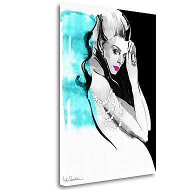 Tangletown Fine Art 'Shoulder Necklace' Print on Wrapped Canvas; 47'' H x 35'' W