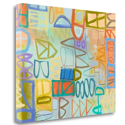 Tangletown Fine Art 'Duet Series I' Print on Wrapped Canvas; 28'' H x 32'' W