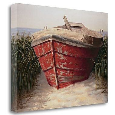 Tangletown Fine Art 'Red Boat' Print on Wrapped Canvas; 35'' H x 45'' W