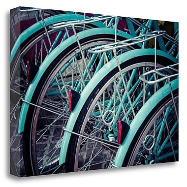 Tangletown Fine Art 'Bicycle Line Up 2' Photographic Print on Wrapped Canvas; 23'' H x 34'' W