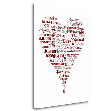 Tangletown Fine Art 'Translation of Love' Textual Art on Wrapped Canvas; 29'' H x 21'' W
