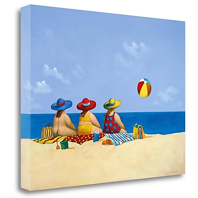 Tangletown Fine Art 'Three Ladies Sunning' Print on Wrapped Canvas; 25'' H x 33'' W