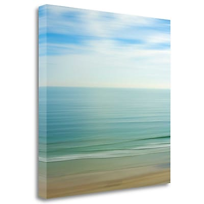 Tangletown Fine Art 'Seacoast 17' Graphic Art Print on Wrapped Canvas; 35'' H x 35'' W