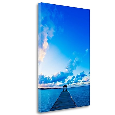 Tangletown Fine Art 'Dock' Photographic Print on Wrapped Canvas; 28'' H x 19'' W