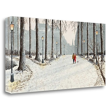 Tangletown Fine Art 'A Love Story' Photographic Print on Wrapped Canvas; 17'' H x 34'' W