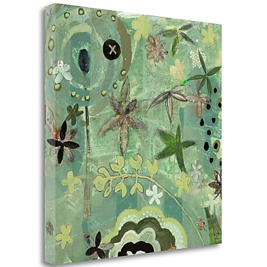 Tangletown Fine Art 'Floral Fantasies 1' Print on Wrapped Canvas; 35'' H x 35'' W