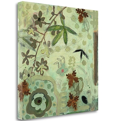 Tangletown Fine Art 'Floral Fantasies 3' Print on Wrapped Canvas; 30'' H x 30'' W
