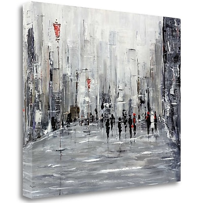 Tangletown Fine Art 'City Scape' Print on Wrapped Canvas; 35'' H x 41'' W