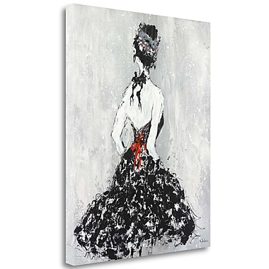 Tangletown Fine Art 'Elegant Booba w/ Red Sash' Print on Wrapped Canvas; 27'' H x 21'' W