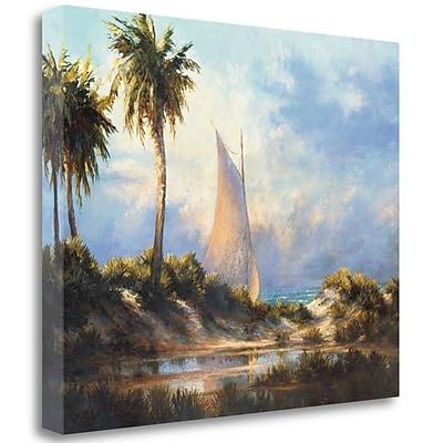 Tangletown Fine Art 'Manasota Key Returning' Print on Wrapped Canvas; 21'' H x 27'' W