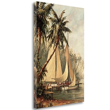 Tangletown Fine Art 'Rum Cay' Print on Wrapped Canvas; 47'' H x 31'' W