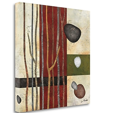 Tangletown Fine Art 'Sticks and Stones V' Graphic Art Print on Wrapped Canvas; 28'' H x 28'' W
