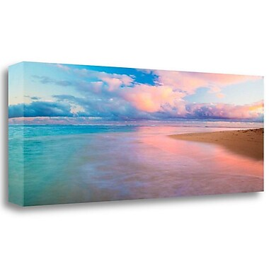 Tangletown Fine Art 'Haena Beach' Photographic Print on Wrapped Canvas; 15'' H x 39'' W